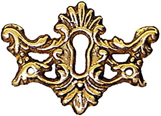 Victorian Cast Brass Keyhole Escutcheon Antique Reproduction | E-11S