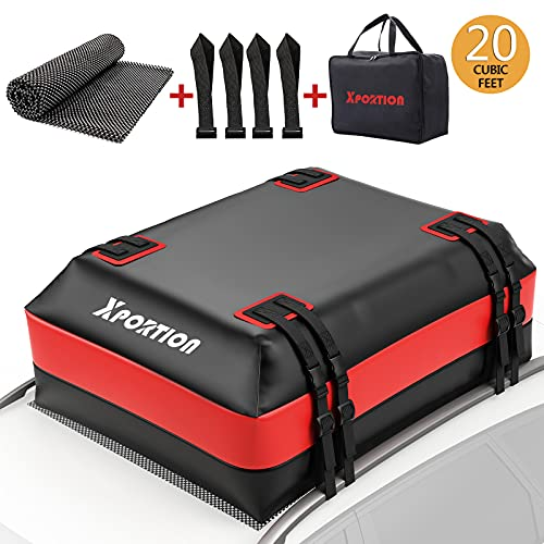 XPORTION Rooftop Cargo Carrier,20 Cubic Feet Rooftop Cargo Bag,Waterproof Rooftop Cargo Carrier...