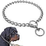 Leikance Collar de perro para mascotas, correa de acero inoxidable, collar de cadena de perro para perros