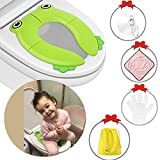 Supermore Upgrade Folding Portable Travel Potty Seat Silicone Pads Home Reusable Toilet Potty Training Seat...