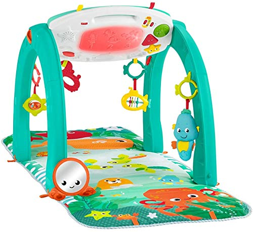 Fisher-Price 4-in-1 Ocean Activity Center, Blue/Green