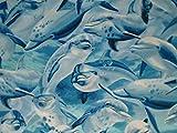 Timeless Treasures Fat Quarter Swimming-Delphine, 100 %