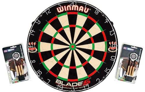 Winmau Wettkampf-Dartboard Blade 5 mit Steeldarts