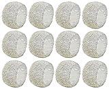 SKAVIJ Silber Glas Perlen Serviettenring-Set für Esstischdekoration Handgemacht (12 stück) - 3