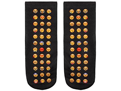 Rainbow Socken viele Emojis Strümpfe Socke Emoticons Lächeln
