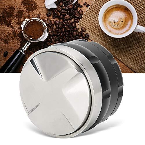 Changor Tamper de café Ajustable, café de Acero Inoxidable Negro 4 Pendientes en ángulo 58 x 52 mm Material de Acero Hecho de Acero Inoxidable
