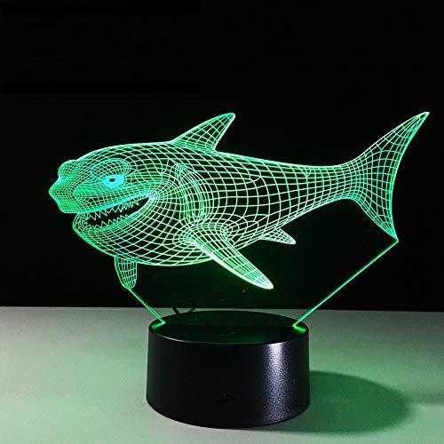 Xiujie 3D Shark Nachtlicht Top Qualität Kinder Kinder Visuelle Led Illusion Atmosphäre 7 Farbwechsel Stimmung Lampe Freund Und Urlaub Geschenke