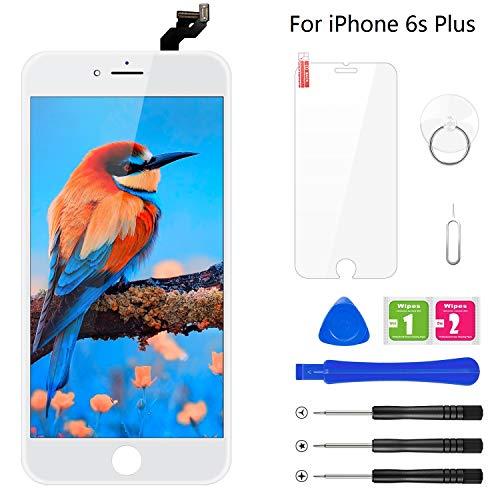 BuTure Kompatibel mit iPhone 6S Plus Display Weiß, Ersatz Set LCD 3D Touchscreen Digitizer mit Werkzeuge und Displayschutzfolie Für iPhone 6S Plus