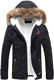 Targogo Giacche Invernali da Uomo Cappotto con Cappuccio Cappotto da Abbigliamento Uomo Vintage Cappuccio da Uomo Parka Gi...
