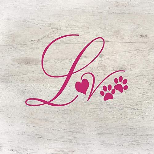 Autocollant en vinyle avec inscription « Dog Love, Heart, Tumbler Deal, Laptop Decal, Dog Deat Jar, Personalised Dog Friandises, Personalized Mug, Bumper Stickers, Pattes
