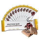 Barritas de proteínas Q-Bar de Suppifly, baja en carbohidratos, caja de 12 barritas de 60g cada una, con sabor natural, opción saludable como reemplazo alimenticio