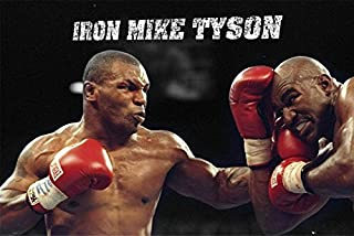 Fashion Home Decor Mike Tyson Boxer Boxing Sports Silk Fabric Cloth Wall Poster Vintage 24x36 inch
