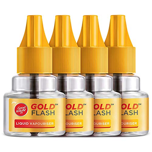 Good knight Gold Flash, Mosquito Repellent Refill - 45ml each (Pack of 4)