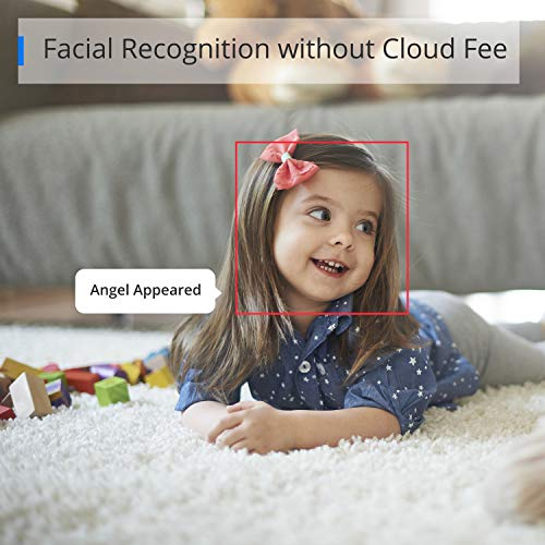 360 AC1C Indoor Security Camera, 1080P, Face Recognition Without Cloud Charge, Color Night Vision, 130° View Angle, Human and Motion Detection, Activity Zones, Cloud and Local Storage