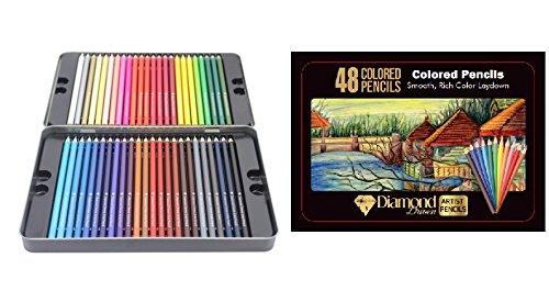 Multi Colored Premium Pencils - 48 Pre-Sharpened Pencils, Great Art School Supplies for Kids & Adults Professional Pencils - Bright Assorted Eco Colored Pencils By Diamond Driven