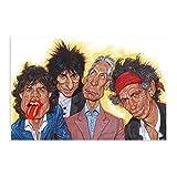 Rolling Stones Leinwand-Poster, Wandkunst, Deko, Bild,