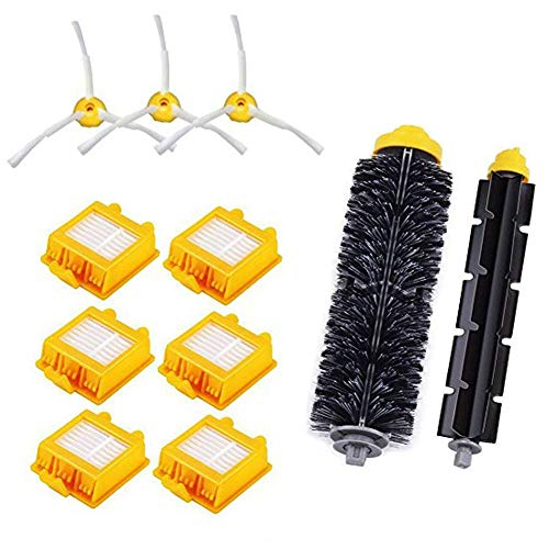beststar Kit de Accesorios de Repuesto para iRobot Roomba Serie 700 760 761 770 780 790 aspiradoras robóticas 6 filtros, 3 cepillos Laterales, 1 Cepillo de cerdas y 1 Cepillo batidor Flexible #3909