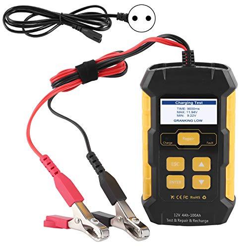 Comprobador de batería de coche para todos los vehículos de 12 V, comprobador de batería de coche Mantenedor de cargador Analizador de carga (UE 220V)