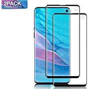 Mighty Compatible [2 - Pack] Samsung Galaxy S10 Tempered Glass Screen Protector, [9H Hardness][Anti-Scratch] [Anti-Fingerprint][3D Curved][Ultra Clear] Screen Protector for Galaxy S10(Black)