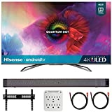 Hisense 55H9G 55-inch H9G Quantum 4K ULED Smart TV (2020) with Deco Home Soundbar Bundle