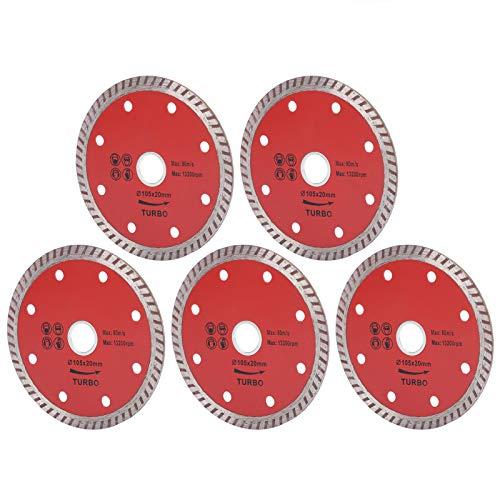 5 piezas de hojas de sierra, disco de corte de cerámica corrugado, herramientas de corte para carpintería, 105 MM duraderas y para un largo tiempo de servicio