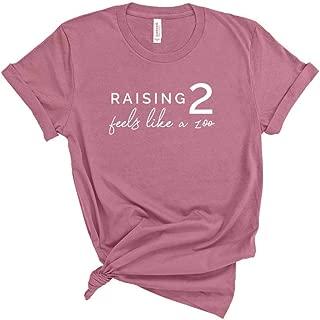 Raising 2 Feels Like A Zoo T- Shirt, Funny Mom Life Shirt, Mama Tee, Unisex Mom Shirt, Womens T Shirt, Gift For Mom