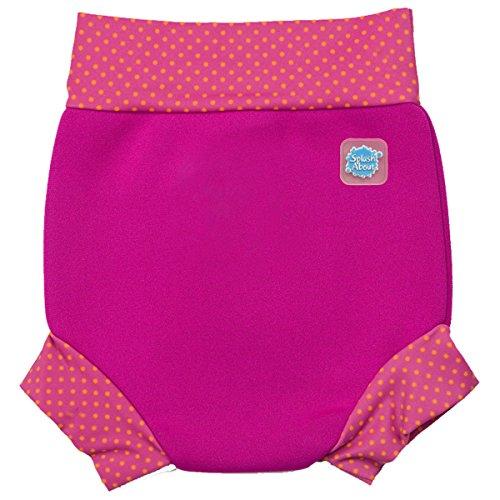 Splash About Baby Happy Nappy Wiederverwendbar Schwimmwindel, Rosa (Rosa und Mango Puktmuster), Gr. Medium (Herstellergröße: 3-8 Months)