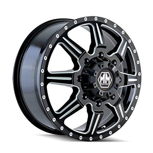 MAYHEM MONSTIR (8101) BLACK Wheel with Rear Milled Spokes (0 x 6.75 inches /8 x 165 mm, -143 mm Offset) -  8101-9681MR121
