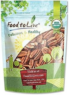 Organic Pecans, 3 Pounds - Non-GMO, Kosher, Raw, Vegan, No Shell