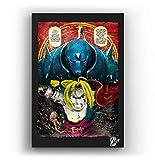 Alphonse y Eric de Fullmetal Alchemist - Pintura Enmarcado Original, Imagen Pop-Art, Impresión Póste...