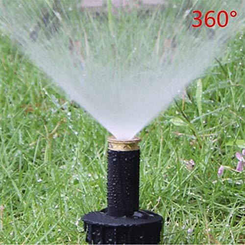 Ybqy Gazonirrigatie 90-360 graden pop-up sproeier kunststof gazonirrigatie sproeikop instelbare sproeikop 1/2
