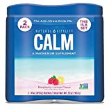 Natural Vitality Calm, Magnesium Citrate Supplement Powder, Anti-Stress Drink Mix, Raspberry Lemon – 16 Ounce (2 Pack)