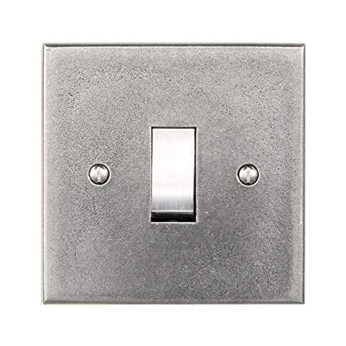 Preisvergleich Produktbild Wandplatte aus Zinn,  1 Gang,  nur Schalterplatte