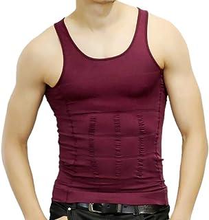 PlayCool Mens Slimming Body Shaper Vest Shirt Abs Abdomen Slim, Compression Muscle Tank