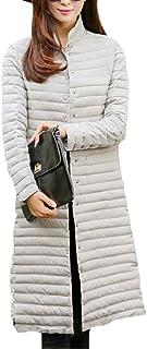 maweisong レディース冬暖かいファッションロングラインパッケージフィットスリムフィットパーカパッドコート