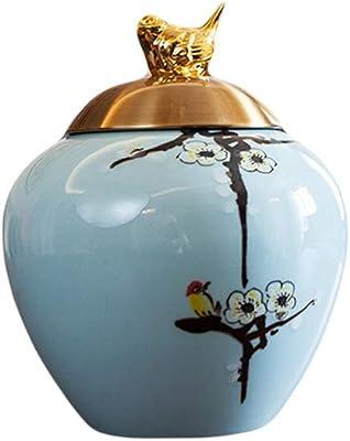 Jarrones Florero Chino, Sala de Estar, Conjunto cerámica, Adornos, decoración, hogar, televisor, gabinete, Flor Seca, arreglo Floral Florero (Size : S): Amazon.es: Hogar