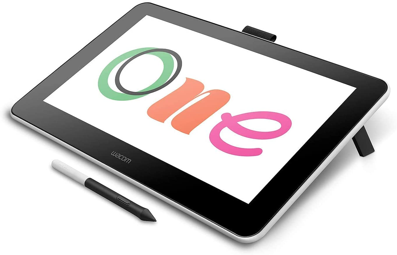 Wacom DTC133W0A One Digital Drawing Tablet with Screen, 13.3 Inch Graphics Display for Art and Animation Beginners (Renewed)
