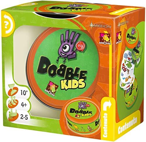 Asmodee – Dobble Kids – Juego de cartas, edición en italiano (8231) - Idioma Italiano