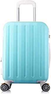 XIAO Suitcase for hard shell rolling fine-tuning TSA lock suitcase, red, dark, size (34 * 26 * 64) cm Happy day (Color : Light blue, Size : 14 * 11 * 26 inch)