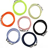 7 PCS Thin Lightweight Elastic Twist Face Mask Lanyard for Kids, Women and Men Mask Chain Mask Strap Around The Neck. Easy to Put on and Take Off. Daily Use for School and Work (Multi-Color)