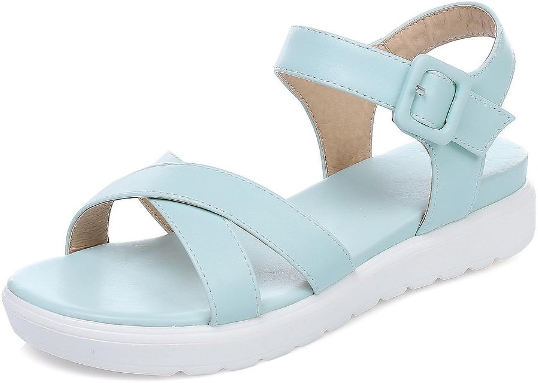 BalaMasa Womens Firm-Ground Huarache Fashion Urethane Sandals ASL04969