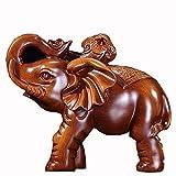 HongLianRiven maniquíes Suerte Elefante Adornos, Duradero Resina, Utilizada en Auspicioso Craft Adornos en la Entrada de Feng Shui de la Sala (24 * 13 * 20) (Color : Brass, Size : 24cm*13cm*20cm)