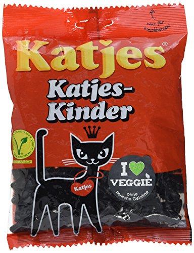 Katjes Katjes-Kinder – Lakritz Kätzchen aus Hartlakritz – Der Klassiker unter den Süßigkeiten (10 x 200 g)