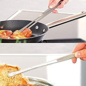 Edelstahl Pinzette K/üche verwendbar als Fleischzange Bratzange Grillzange oder Servier Zange ein n/ützlicher K/üchenhelfer f/ür alle Hobbyk/öche und Kochprofis Kochpinzette Edelstahl lang 30cm