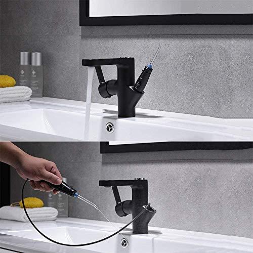 XIAOWANG Wasserhahn Upgrade Wasser Flosser, Wasserhahn Munddusche, tragbare Wasserstrahl-Zahnbürste, einfache Duschinstallation, Anti-Leck-Wasser-Pick-Zahnreiniger Dental