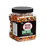 DELICIOUS FLAVORS – The BEER NUTS Bar Mix with Wasabi features a sweet and salty mix of BEER NUTS original peanuts, wasabi peas, hot and spicy sesame sticks, pretzel niblets, nacho cheese sticks, bbq insane grain TRY THEM ALL - BEER NUTS offers Origi...