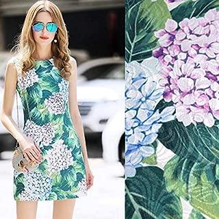 Lace Fabric African | Hydrangea Digital Print Jacquard Brocade Fabric for Dress Coat Tissus Au Metre Tissu Tecidos Stoffen Tela Fabrics DIY | by ATUSY