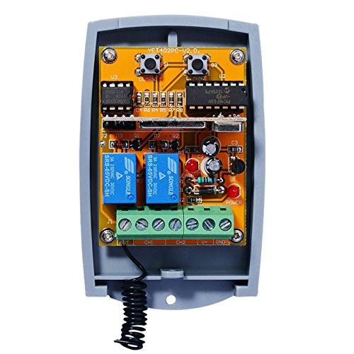 V2 compatible Récepteur portail. Universal 2-canaux Récepteur pour V2 Phoenix, PHOX, Handy, TSC, TRC, TXC télécommandes. 12-24V AC/DC