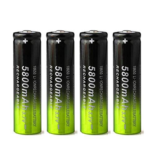 RECORDARME 3.7 V 5800 mah 18650 li ion batería recargable de litio, para cámara de luz led micrófono radio faro cámara juguete control remoto 4 unids
