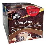 SHIP -Chocolate Clásico a la Taza 10 Sobres - 250 gramos - Cacao Puro - Endulza tu Vida - Sin Cafeína - Original de España - Exento de Alérgenos - Alimento en Polvo
